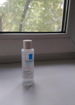 Миниатюра (50 мл) la roche-posay micellar water ultra for reactive skin