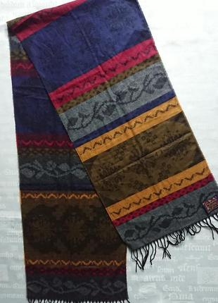 Мужской шарф с узором cashlin (германия)165х34см - полиакрил
