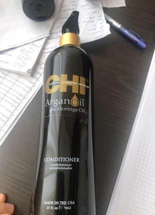 Восстанавливающий кондиционер - chi argan oil conditioner 739ml