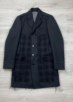 Шерстяное пальто kenzo