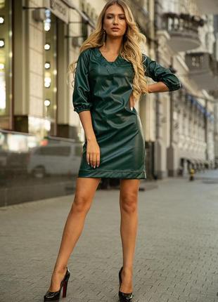 Платье, цвет тёмно-зелёный