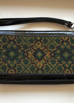 Шкіряний гаманець - клатч