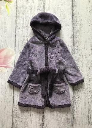 Крутой мягенький халат с капюшоном jbc размер 12мес