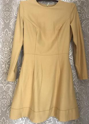 Горчичное платье musthave 34 размер.