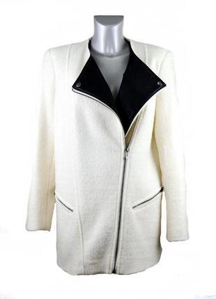 Демисезонное короткое пальто  в составе шерсть, куртка косуха kiabi. код п35759