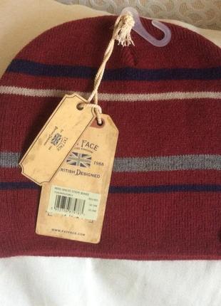 Новая шерстяная двойная шапка английского бренда fatface