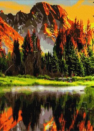 """Картина по номерах """"захід сонця в долині"""""""
