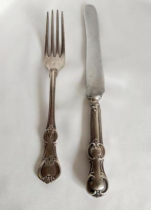 Вилка и нож a.krupp berndorf германия винтаж гдр