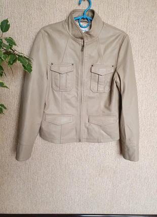 Красивая, стильная кожанная куртка, курточка от next, 100% качественная мягусенькая кожа
