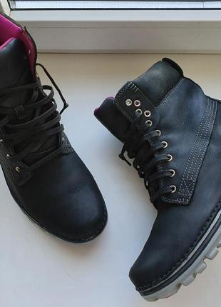 Женские демисезонный ботинки timberland кожа