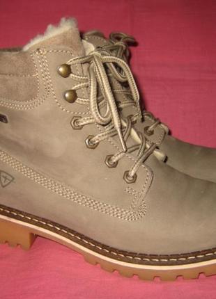 Кожаные зимние ботинки tamaris duo-tex оригинал - 39 размер