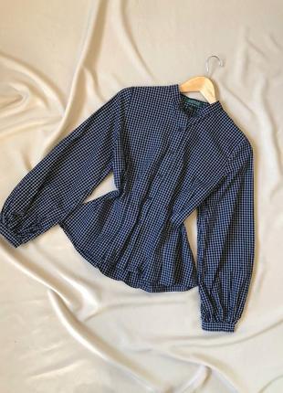 Невероятная рубашка с объёмными рукавами и сборкой сзади от ralph lauren
