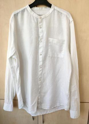 Рубашка лен белая