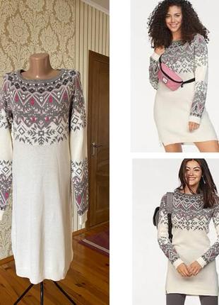Красивенное вязаное тёпленькое хлопковое платье/ туника 🤩