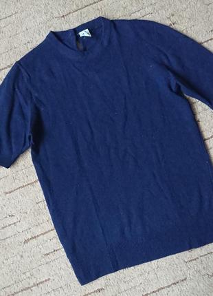 Лаконичный пуловер c&a c коротким рукавом #100%шерсть# теплый и комфортный