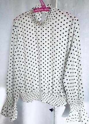 Блуза в горох от amisu