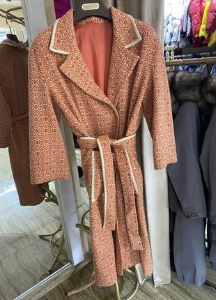 Пальто халат шерстяное