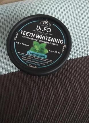 Зубной порошок отбеливающий со вкусом ментола