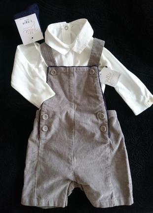Дитячий костюмчик(боді+комбінезон+носочки), george