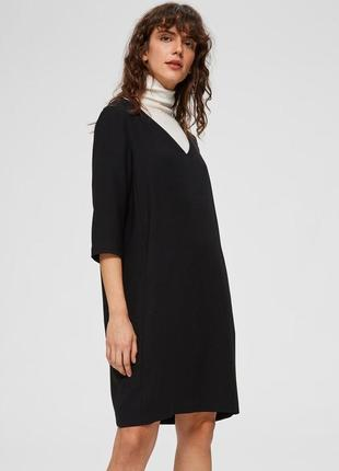 Базовое чёрное платье selected femme 🌑