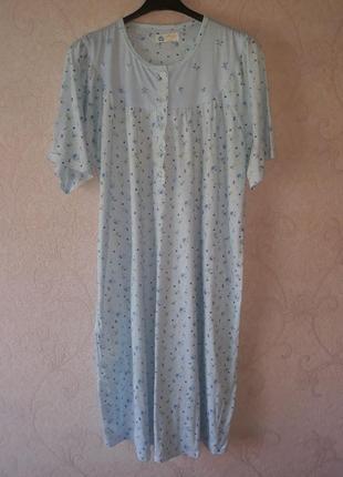 Ночная рубашка большой размер, ночнушка с цветами, сорочка, нічна сорочка 3xl-4xl