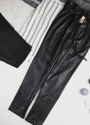 Новые брюки штаны из эко кожи prettylittlething