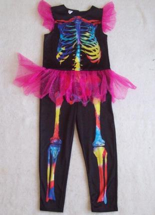 Карнавальный костюм скелет, длина 105 см.