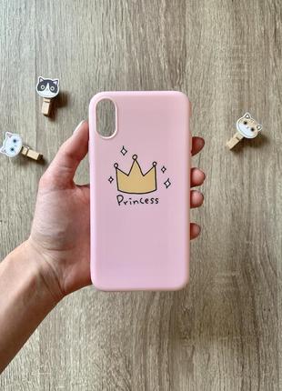 👸🏼💖нежно розовый чехол на iphone xs 💖👸🏼