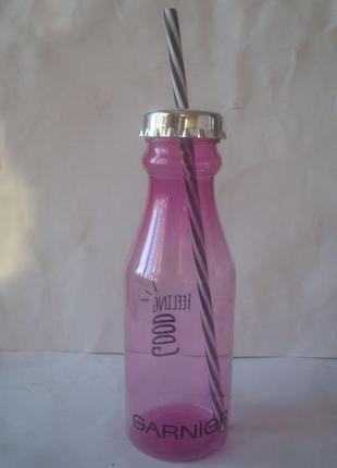 Бутылка для воды с трубочкой / garnier/гарньер