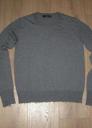 Zara knit свитер с потрепанными краями, р.м