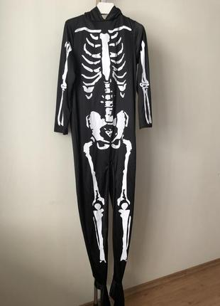 Скелет комбинезон 48-50 карнавальный костюм