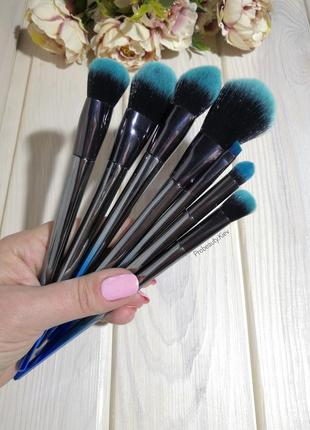 7 шт кисти для макияжа набор градиент blue grey mini light probeauty