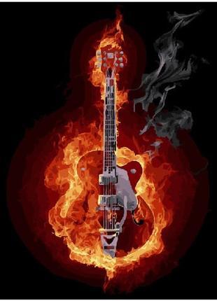 """Картина по номерах """"гітара у вогні"""""""