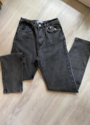 Стильные мом джинсы высокая талия 26-30р турция как zara