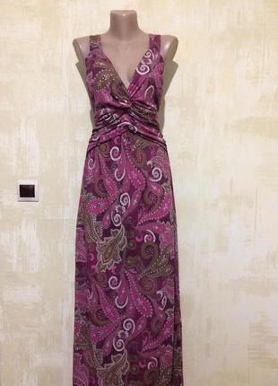 Натуральное трикотажное платье,сарафан в принт!!!