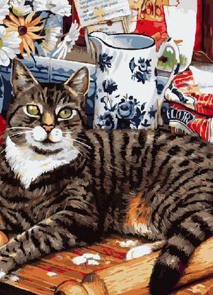 """Картина по номерах """"кіт кулінар"""""""
