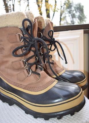 Кожаные зимние ботинки сноубутсы для охоты рыбалки сорел sorel р.42 28 см