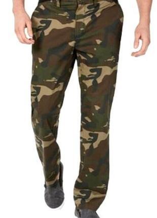 Мужские брюки club room size 32 camo камуфляж, охота, рыбалка khakis chinos camo stretch