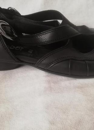 Gabor кожаные туфли шкіряні туфлі р. 38,5 ст. 25,5 см