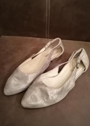 Мюли босоножки туфли кожа