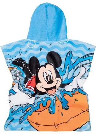 Полотенце пончо с героями  disney mickey mouse для бассейна или пляжа