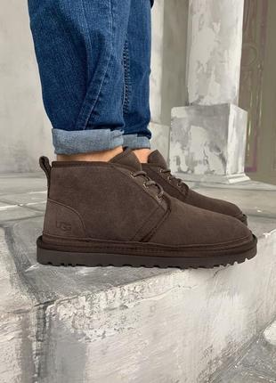 Угги ugg australia neumel brown / мужские / коричневые / сапоги / ботинки