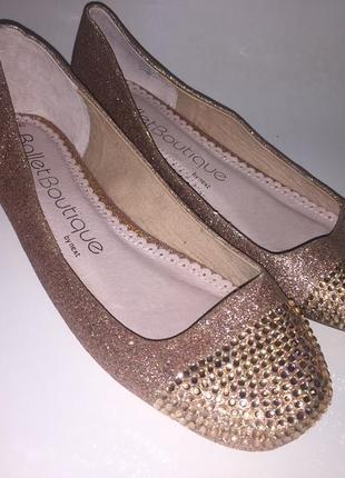 Туфли балетки 🥿 со стразами размер 40