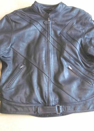 Мотокуртка nz, размер 62, кожаная