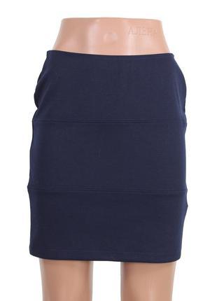 Синяя трикотажная юбка