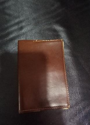 Кожаная обложка на паспорт.