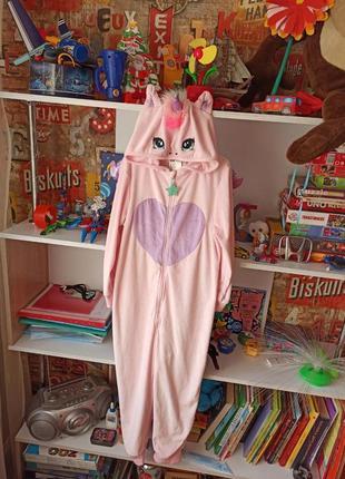 Пижама кигуруми h&m единорог на 7-8 лет, 122-128 см