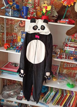 Пижама кигуруми h&m панда на 7-8 лет, 122-128 см