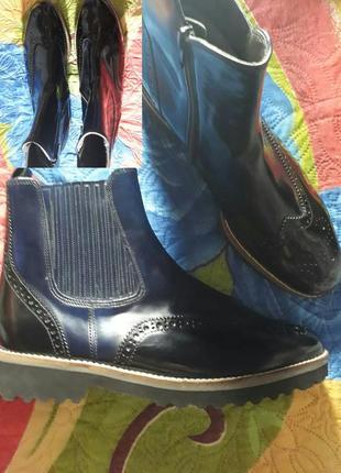 38 бренд кожаные сапожки