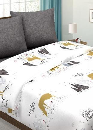 Лапландия - светящееся постельное белье поплин, 100% хлопок